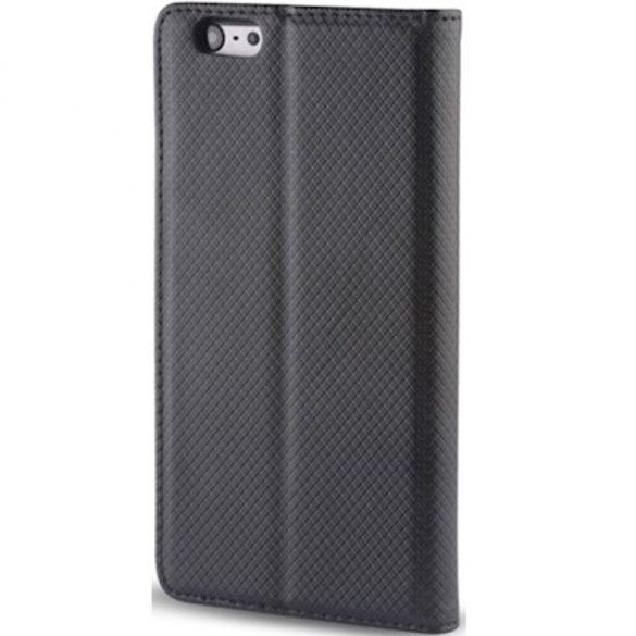 Xiaomi Redmi Note 10 / Note 10S, Oldalra nyíló tok, stand, Smart Magnet, fekete
