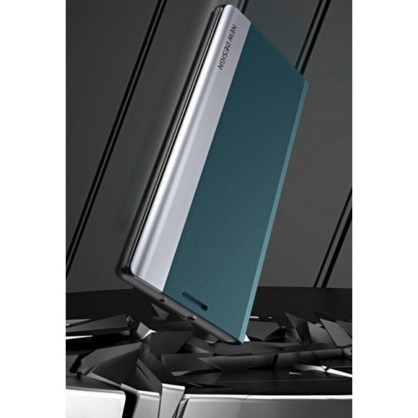 Xiaomi Mi 11 Lite / 11 Lite 5G, Oldalra nyíló tok, stand, Wooze Silver Line, fekete