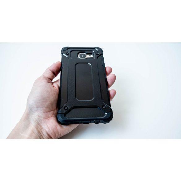 Apple iPhone 8 / SE (2020), Műanyag hátlap védőtok, Defender, fémhatású, fekete