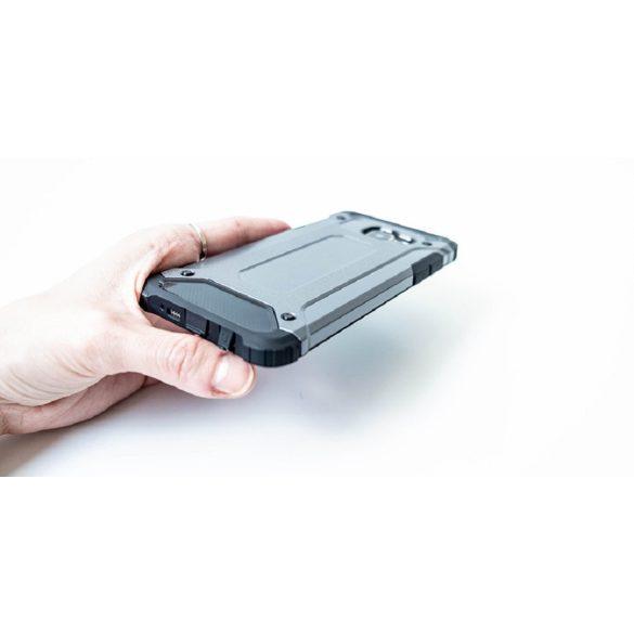 Apple iPhone 8 / SE (2020), Műanyag hátlap védőtok, Defender, fémhatású, ezüst
