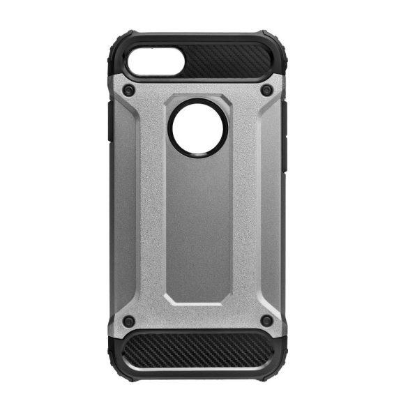 Apple iPhone XS Max, Műanyag hátlap védőtok, Defender, fémhatású, szürke
