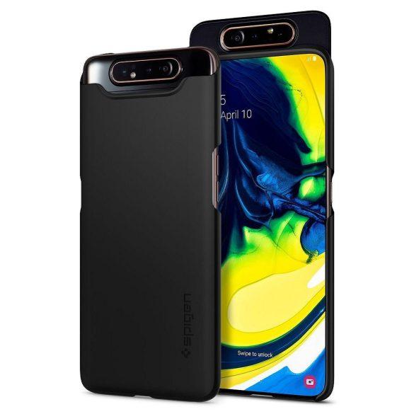 Samsung Galaxy A80 SM-A805F, Műanyag hátlap védőtok, Spigen Thin Fit, fekete