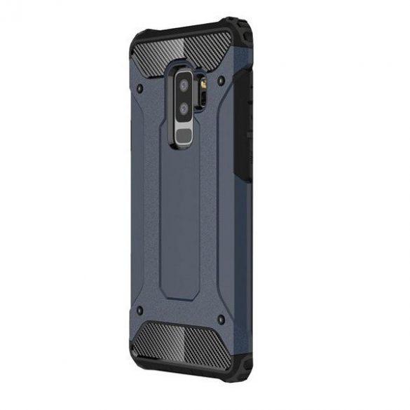Samsung Galaxy S20 Plus / S20 Plus 5G SM-G985 / G986, Műanyag hátlap védőtok, Defender, fémhatású, sötétkék