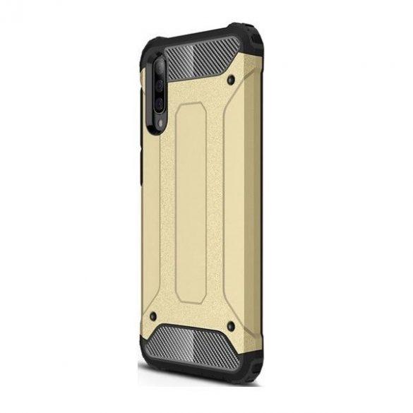 Apple iPhone 11 Pro Max, Műanyag hátlap védőtok, Defender, fémhatású, arany