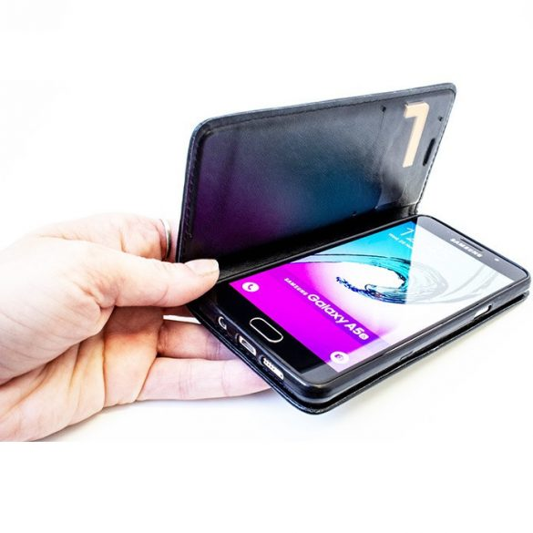 Samsung Galaxy Xcover 4 / 4s SM-G390F / G398F, Oldalra nyíló tok, stand, Magnet Book, fekete