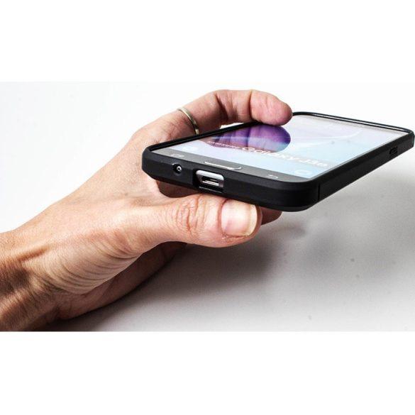 Huawei Y5p / Honor 9S, Szilikon tok, közepesen ütésálló, szálcsiszolt, karbon minta, fekete