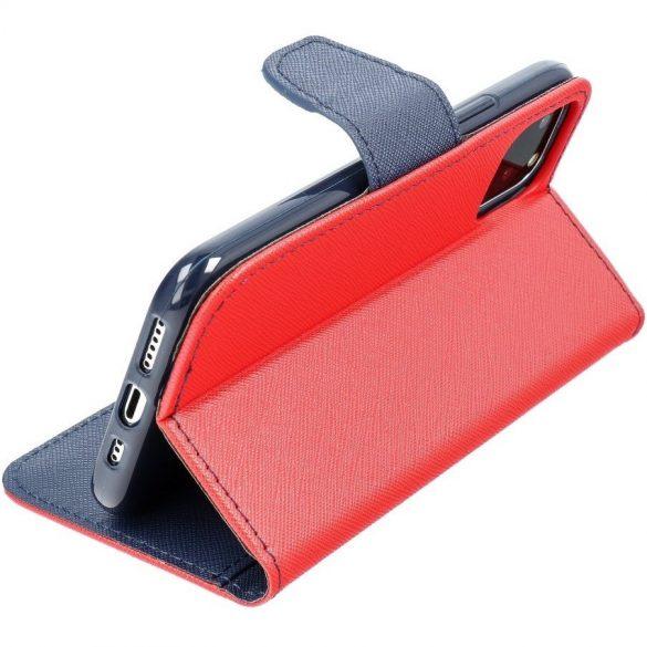 Xiaomi Redmi 9A / 9AT / 9i, Oldalra nyíló tok, stand, Fancy Book, piros