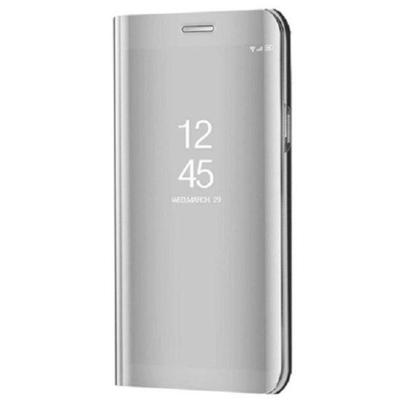 LG Velvet / Velvet 5G, Oldalra nyíló tok, hívás mutatóval, Smart View Cover, ezüst (utángyártott)