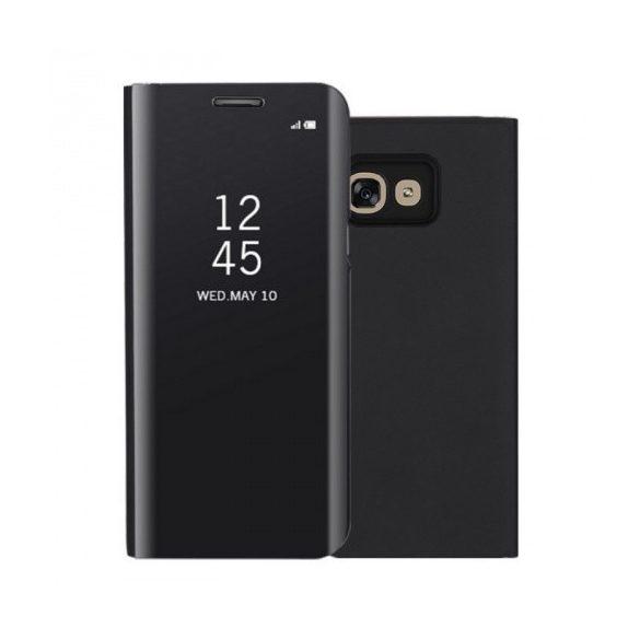 Samsung Galaxy A70 / A70s SM-A705F / A707F, Oldalra nyíló tok, hívás mutatóval, Smart View Cover, fekete (utángyártott)