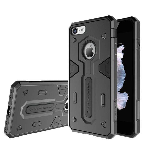 Apple iPhone 7, Műanyag hátlap védőtok, Nillkin Defender II., ütésálló, fekete