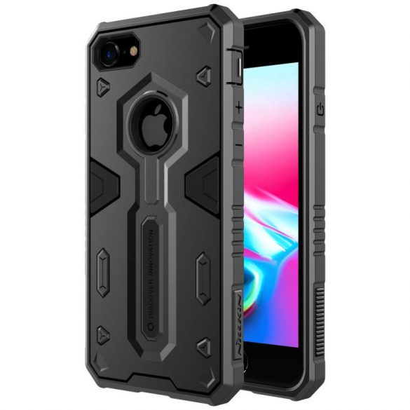 Apple iPhone 8 / SE (2020), Műanyag hátlap védőtok, Nillkin Defender II., ütésálló, fekete