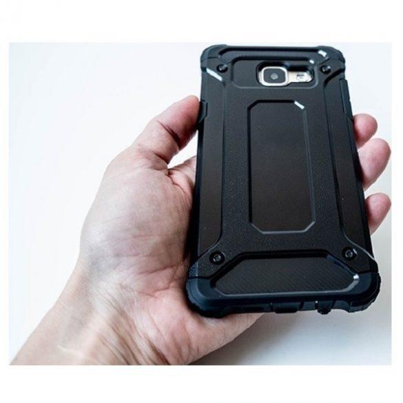 Xiaomi Mi 11 Lite / 11 Lite 5G, Műanyag hátlap védőtok, Defender, fémhatású, fekete