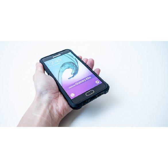Apple iPhone 5 / 5S / SE, Műanyag hátlap védőtok, Defender, fémhatású, fekete