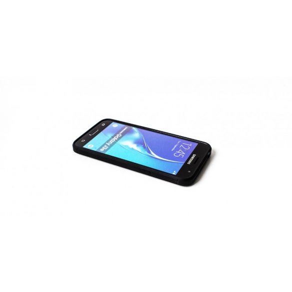 Apple iPhone 7 Plus, TPU szilikon tok, közepesen ütésálló, szálcsiszolt, karbon minta, fekete